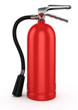 Red fire extinguisher , isolated on white background