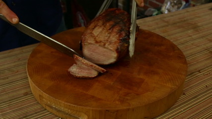 Slicing Rump Roast