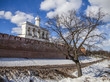 Belfry and Kremlin Wall in Veliky Novgorod