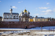 Saint Sophia Cathedral, Belfry and Kremlin Wall in Veliky Novgor
