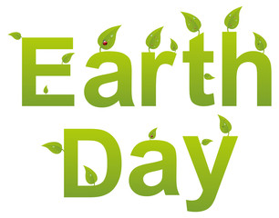 Earth Day Words Ecology Concept