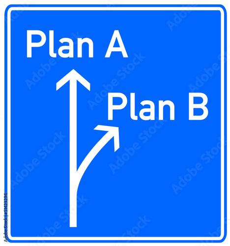 Plan A Plan B Schild  #130414-svg09