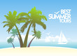Best summer tours design template with white yachts.