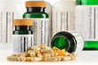 Composition with dietary supplement capsules. Drug pills - 51423485