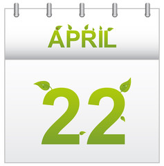 Earth Day Calendar April Month