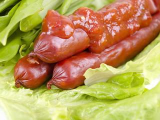 sausage and sauce