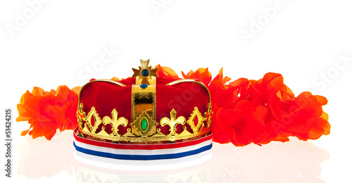 Dutch golden crown for the king