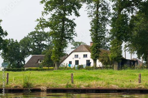 Dutch farmhouse near river