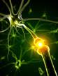 3d rendered medical illustration - active neurone