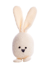 white handmade stuffed animal easter bunny