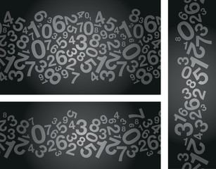 abstract black number background