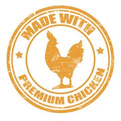Made with premium chicken stamp