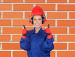 Happy woman industrial worker