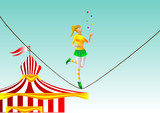 circus. girl on a rope poster