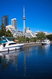 Fototapete Ontario - Blau - Segelboot