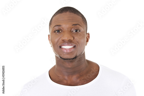 Handsome younf african american man