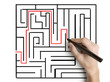 hand drawing maze