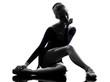 young woman ballerina ballet dancer stretching warming up