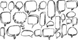 Speech Bubble Sketch Doodle Illustration Vector Art