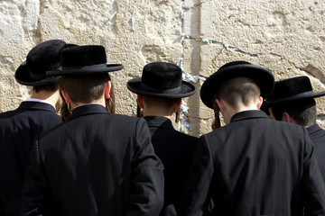 The prayers near Western Wall