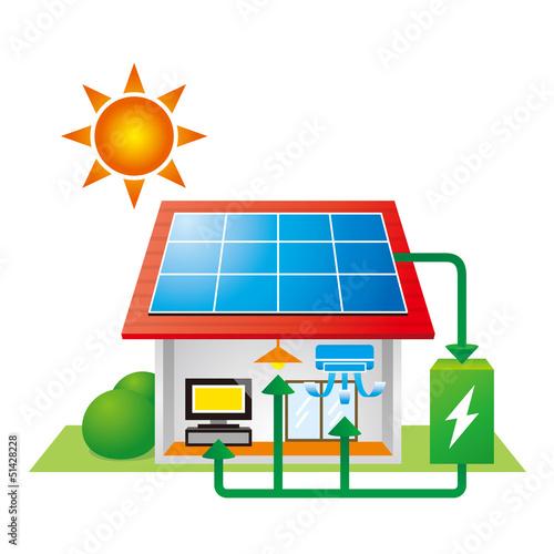 太陽光発電と蓄電池で快適な生活 - 51428228
