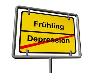 Frühling und Depression