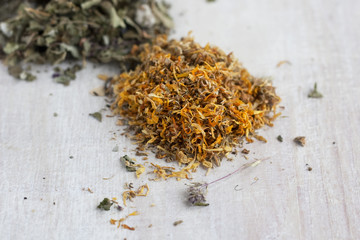 dry herbs - calendula and other