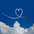 Herz im Himmel als Symbol für Liebe