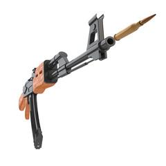 AK-47 Gewehr feuert Patrone ab