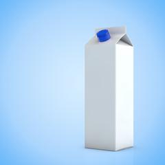 Leere weißer Karton Milch