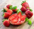 Minze, Erdbeeren