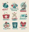 Retro medical emblems