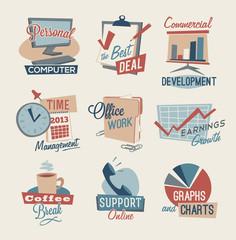 Retro office emblem