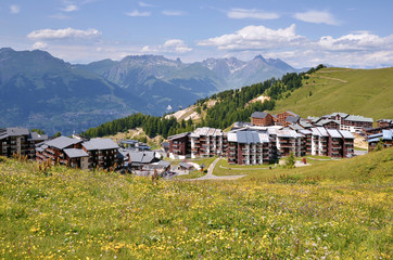 La Plagne village in France