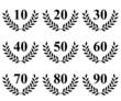 Lauriers de 10 à 90