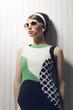Fashion model with sunglasses