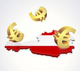 Bewegung der Euro in Österreich