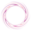 Vector round frame of pink and purple lines
