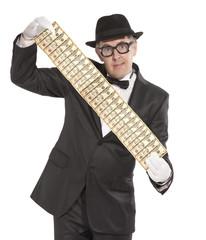 Magician businessman