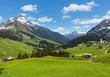 Leinwandbild Motiv Alpine view (Vorarlberg,Austria)