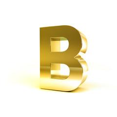 Metal Alphabet Character B