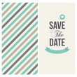 Wedding invitation card with background stripes