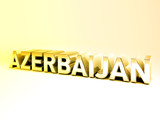 3D Country Text of AZERBAIJAN