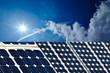 Solarzellen in der Sonne