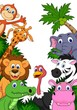 Safari animal background