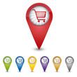 Map Pin - Einkaufswagen - Shopping