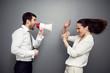 emotional boss reprimanding his subordinate