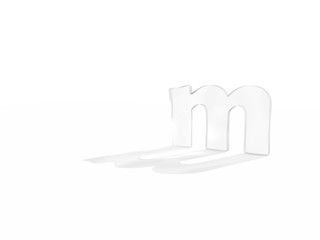 3D render of the text m