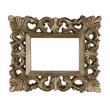 Golden baroque frame