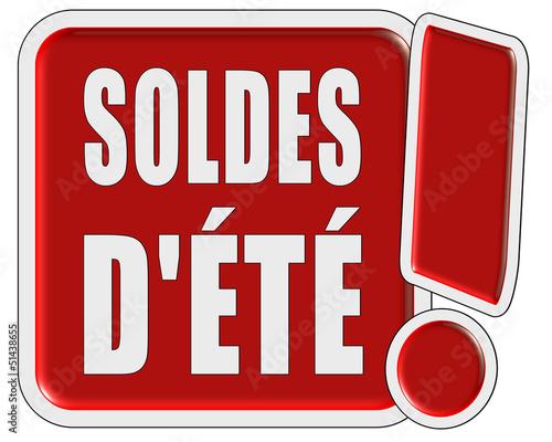 !-Schild rot quad SOLDES D'ÉTÉ